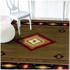 Hudson Green Southwest/Lodge Rug 087J1