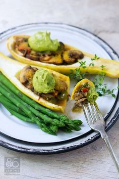 Stuffed Summer Squash     #summer  #food #recipes