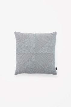 Square contrast cushion