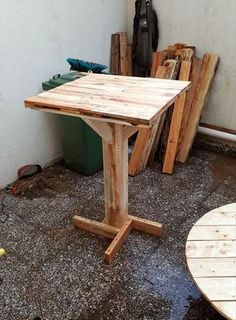 diy pallet bar table