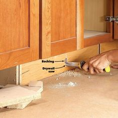 Woodworking tips How to Build Under-Cabinet Drawers & Increase Kitchen Storage Kitchen Drawer Organization, Diy Kitchen Storage, Storage Cabinets, Diy Storage, Extra Storage, Base Cabinets, How To Remove Kitchen Cabinets, Storage Ideas, Under Cabinet Drawers