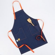 The stunning simplicity of these Blunt Roll aprons is a timeless style that performs well, cleans up beautifully and looks cool in the kitchen.