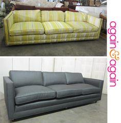 gray tuxedo sofa makeover