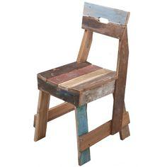 Plank chair in teak scrapwood Sensational Scrapwood Furniture by Piet Hein Eek