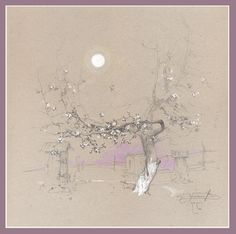 """la nuit de l' amour"" Drawing Sketches, Pencil Drawings, Art Drawings, Native American Quotes, Toned Paper, Paper Drawing, Landscape Drawings, Russian Art, Beautiful Drawings"
