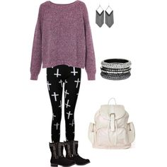 """""""Chunky sweater and leggings"""""""