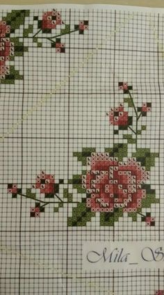 Cross Stitch For Kids, Mini Cross Stitch, Cross Stitch Rose, Cross Stitch Borders, Cross Stitch Flowers, Cross Stitch Designs, Cross Stitching, Cross Stitch Embroidery, Cross Stitch Patterns