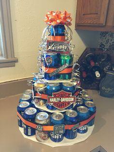 Harley Davidson Beer Cake Birthday Party Ideas Harley