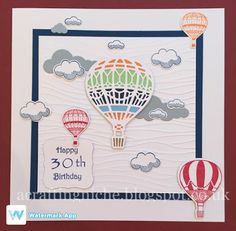 A Crafting Niche: 30th Birthday Card (Stampin' Up - Lift Me Up)