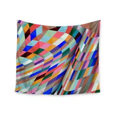 Kess InHouse Danny Ivan 'Different' Multicolor Geometric 51x60-inch Tapestry