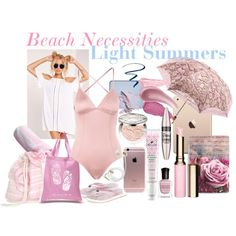 Light Summer-Beach Necessities by prettyyourworld on Polyvore featuring Eberjey, Barbour, Los Angeles Pop Art, Casetify, Clarins, Christian Dior, shu uemura, Bare Escentuals, Maybelline and NARS Cosmetics