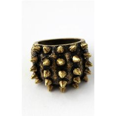 Emi Jewellery Spiked Vintage Ring (290 ZAR) ❤ liked on Polyvore featuring jewelry, rings, neutral, vintage jewellery, spike jewelry, vintage jewelry, vintage rings and spike ring