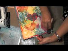 Using a combination of Lindy's Stamp Gang sprays and The Crafter's Workshop stencils, watch this page come to life.