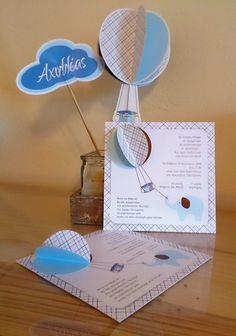 sophie0610: Hot air ballon baptism invitation