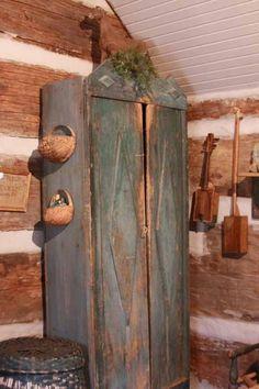 Great old blue cupboard....love....