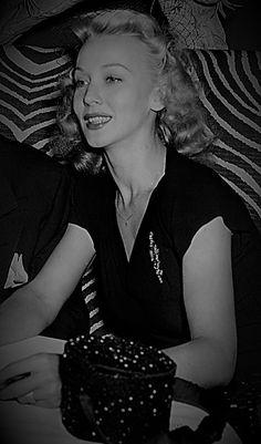 Carole Landis out at a nightclub