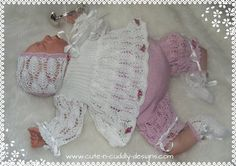 Bébé / poupée reborn Designer Tricot Motif / Angel top, culottes bouffantes, capot / chaussures in Crafts, Crocheting & Knitting, Patterns | eBay