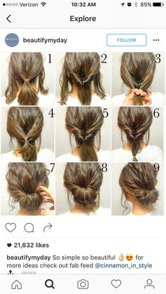 Easy, hope this works out quick morning hair!: Easy, hope this works out quick morning hair!:,Прически Easy, hope this works out quick morning hair! Peinado Updo, Hair Lengths, Hair Inspiration, Colour Inspiration, Hair Cuts, Hair Beauty, Beauty Makeup, Simple Hair Updos, Simple Hairstyles For Medium Hair