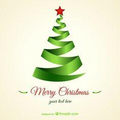 Árbol de Navidad con forma de cinta