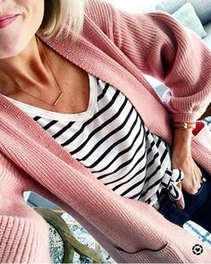 Because I'm always on the hunt for the perfect striped tee, I thought you might want to know that this one is currently on sale for $14 I sized up two sizes for extra length & to be able to knot it. It pairs perfectly with an oversized pink cardi {currently under $40} Happy Saturday!! \\ @liketoknow.it http://liketk.it/2tZdN #liketkit #LTKstyletip #LTKunder100 #LTKsalealert