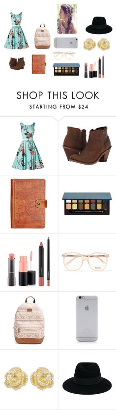 """Untitled #114"" by chloe950 ❤ liked on Polyvore featuring Old West, Patricia Nash, MAC Cosmetics, Chloé, Rip Curl, Native Union, Effy Jewelry and Maison Michel"