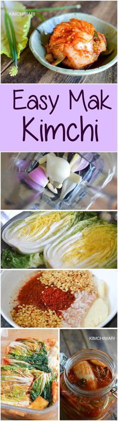Easy Kimchi made with cabbages and radish. aka Mak Kimchi in Korean. Great everyday Kimchi you can make at home. Korean Dishes, Korean Food, Vietnamese Food, Asian Recipes, Healthy Recipes, Asian Foods, Asian Salads, Yummy Recipes, Gastronomia