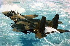 "Prototype F-15 ""Active"" with vectored thrust nozzles and Front canards. The performance attributes of this model eventually lead to the F-22"