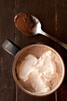 Stirring Nutella into hot chocolate gives a luxurious texture and intense chocolate-hazelnut flavor. For an extra dose of hazelnut, we like to add a splash of Frangelico. Chocolate Triffle Recipe, Chocolate Smoothie Recipes, Chocolate Shakeology, Best Hot Chocolate Recipes, Nutella Hot Chocolate, Chocolate Hazelnut, Chocolate Drizzle, Chocolate Crinkles, Chocolate Cake