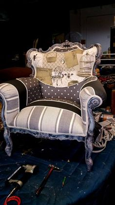 French chair makeover by Eric Samnick