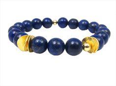 InTu jewelry | InTuition armband Lapis Lazuli goud