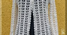 This Pin was discovered by Ner Gilet Crochet, Crochet Cardigan, Knit Crochet, Knitted Booties, Knitted Coat, Learn To Crochet, Crochet Clothes, Crochet Projects, Crochet Patterns