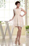 Thin Sash A-line Jewel Short Dress - Joydress.co.uk - 221 - pro - sz0114wd3059