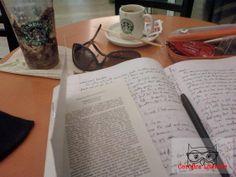 Starbucks em dobro, estudo, tarde produtiva.