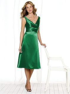 After Six Bridesmaid Style 6513: shown in Shamrock Renaissance Satin.  Only option
