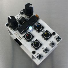 The Bleep Drum Kit is an Arduino based, lo-fi rad-fi drum machine designed by Bleep Labs.