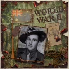 World War II scrapbook page perfect for Carlyle