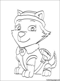 Free Paw Patrol Cat Chase Coloring Pages