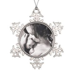Customize the personalized ornament with your own favorite photo.