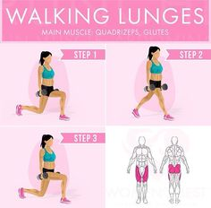 Walking lunges                                                                                                                                                      More
