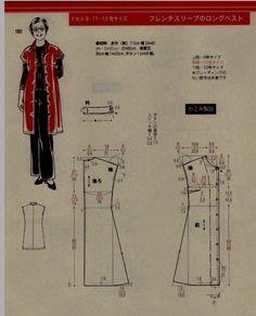 Tunic coat pattern