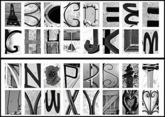 Image result for architectural alphabet