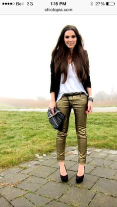 Gold jeans