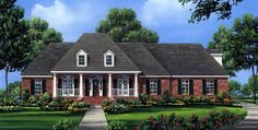House Plan 59176 | Country European Traditional Plan with 2491 Sq. Ft., 4 Bedrooms, 3 Bathrooms, 2 Car Garage at family home plans
