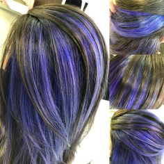 #bluehair #meches  @rebeccavonallmen Make Up, Long Hair Styles, Beauty, Hairstyle, Blue Hair, Nice Jewelry, Long Hairstyle, Long Haircuts, Beauty Makeup