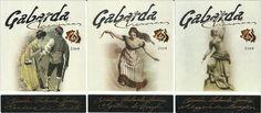 Etiquetas de vinos de GABARDA WINES. Ver más en: etiquetasvinoarte.blogspot.com