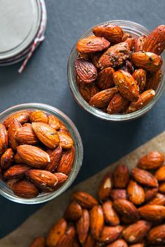 Roasted Rosemary Almonds - use less cayenne and more rosemary. They were pretty spicy which covered up yummy rosemary flavor.