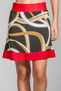 Merryl Skort Gold Ribbons Jackie Skort Black / Black Ice Zig Zag #golf #apparel #sportsapparel #fashion #golfapparel #golffashion #golfskort #skort #skirt #golfskirt