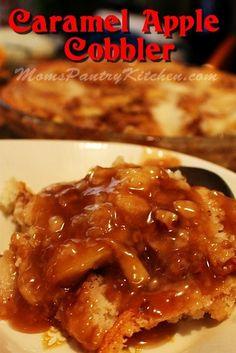 Caramel Apple Cobbler  http://www.momspantrykitchen.com/caramel-apple-cobbler.html