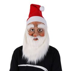 Super Soft The Santa Claus Mask Wig Beard Costume Funy Mask For Holiday Christms #MosoonDreamer