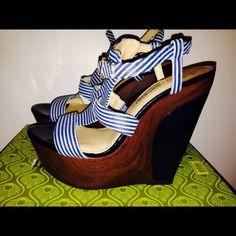 Gianni Bini Shoes - Gianni Bini Wedges Walk A Mile, Like U, Gianni Bini Shoes, Dark Blue, Porn, Walking, Wedges, Stylish, Dress